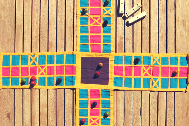 Pachisi game board